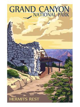 Grand Canyon National Park - Hermits Rest by Lantern Press