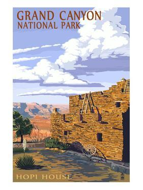 Grand Canyon National Park - Hopi House by Lantern Press