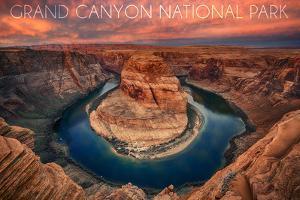 Grand Canyon National Park - Horseshoe Bend by Lantern Press