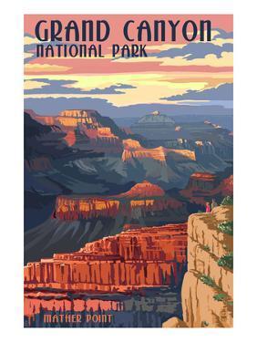 Grand Canyon National Park - Mather Point by Lantern Press