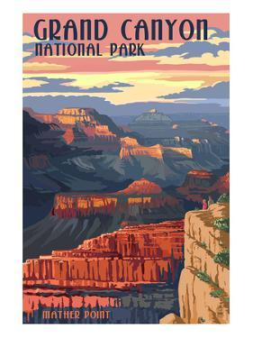 Grand Canyon National Park - Mather Point by Lantern Press