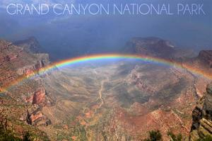 Grand Canyon National Park - Rainbow by Lantern Press
