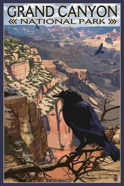 Grand Canyon National Park - Ravens at South Rim by Lantern Press