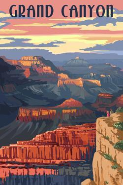 Grand Canyon National Park - Sunset View by Lantern Press