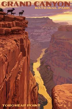 Grand Canyon National Park - Toroweap Point by Lantern Press