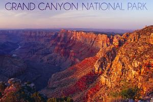 Grand Canyon National Park - Watchtower and River by Lantern Press