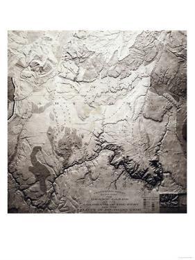 Grand Canyon of Colorado and Utah - Panoramic Map by Lantern Press