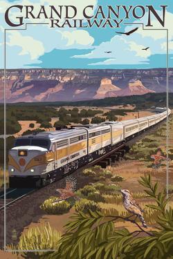Grand Canyon Railway, Arizona - Meadow by Lantern Press