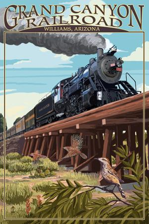 Grand Canyon Railway, Arizona - Trestle by Lantern Press