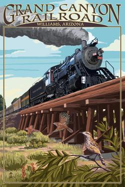 Grand Canyon Railway, Arizona - Trestle by Lantern Press