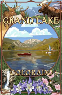 Grand Lake, Colorado Views by Lantern Press
