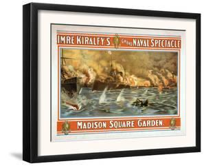 Grand Naval Spectacle Madison Square Garden Poster by Lantern Press