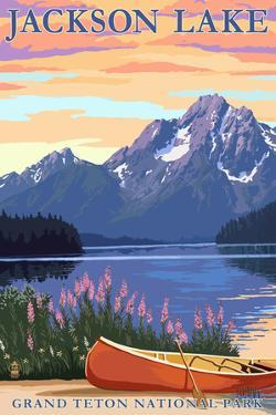 Grand Teton National Park - Jackson Lake by Lantern Press