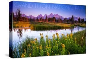 Grand Teton National Park, Wyoming - Flower Foreground by Lantern Press