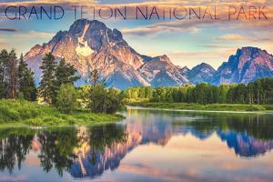 Grand Teton National Park, Wyoming - Sunrise and Snake River by Lantern Press
