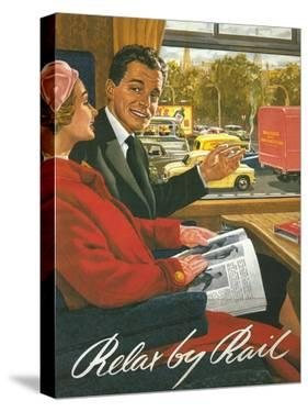 Great Britain - British Railways Relax by Rail Poster by Lantern Press