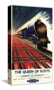 Great Britain - Queen of Scots Pullman Train British Railways Poster by Lantern Press