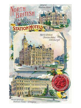 Great Britian - North British Railway Company Station Hotels in Perth, Edinburgh, and Glasgow by Lantern Press