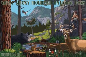 Great Smoky Mountain National Park - Wildlife Utopia by Lantern Press