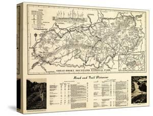 Great Smoky Mountains National Park - Panoramic Map by Lantern Press