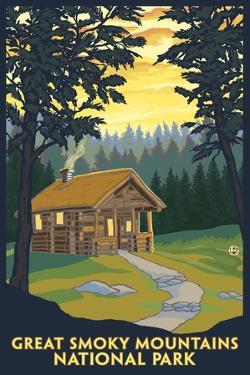 Great Smoky Mountains National Park, Tennessee - Cabin in the Woods by Lantern Press