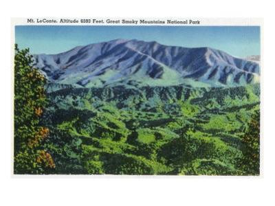 Great Smoky Mts. Nat'l Park, Tn - Panoramic View of Mt. Le Conte, c.1946 by Lantern Press