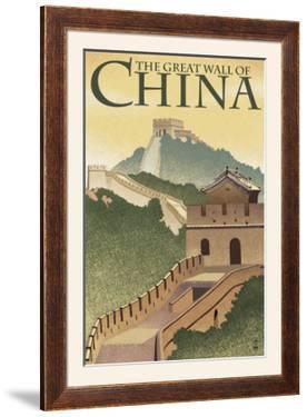 Great Wall of China - Lithograph Style by Lantern Press