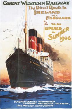 Great Western Railway - Steamship - Vintage Poster by Lantern Press