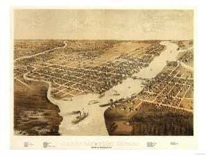 Green Bay, Wisconsin - Panoramic Map by Lantern Press