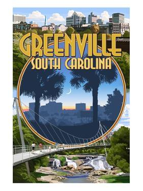 Greenville, South Carolina - Montage by Lantern Press