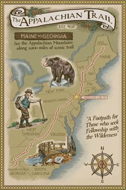 Greenwood Lake, New York - Appalachian Trail Map by Lantern Press
