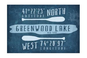 Greenwood Lake, NY - Lake Essentials - Latitude and Longitude by Lantern Press