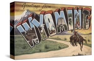 Greetings from Wyoming by Lantern Press