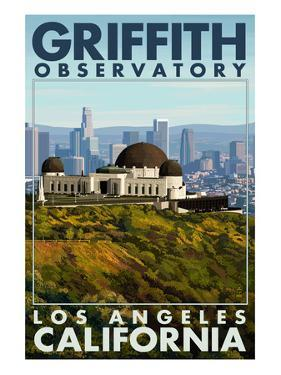 Griffith Observatory Day Scene - Los Angeles, California by Lantern Press