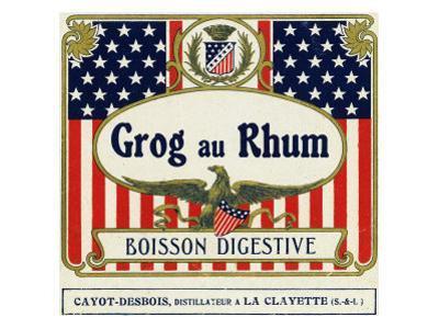 Grog au Rhum Boisson Digestive Rum Label by Lantern Press