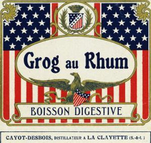 Grog au Rhum Boisson Digestive Rum Label by Lantern Press