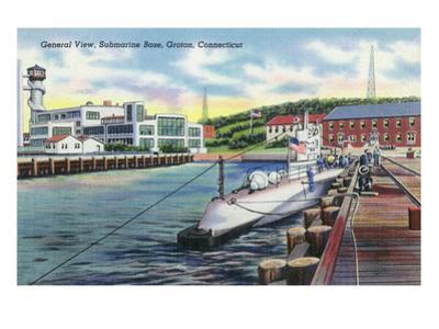 Groton, Connecticut - General View of the Submarine Base