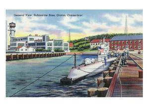 Groton, Connecticut - General View of the Submarine Base by Lantern Press