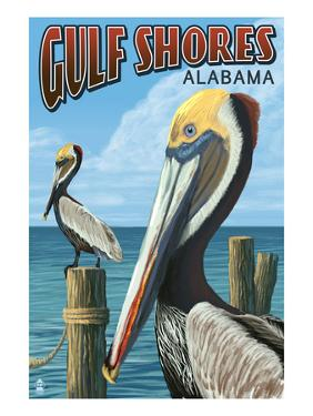 Gulf Shores, Alabama - Brown Pelican by Lantern Press