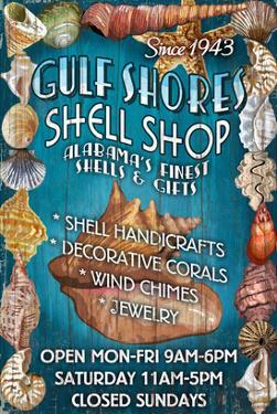 Gulf Shores, Alabama - Shell Shop by Lantern Press