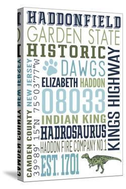 Haddonfield, New Jersey - Typography by Lantern Press