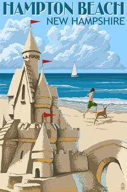 Hampton Beach, New Hampshire - Sand Castle by Lantern Press