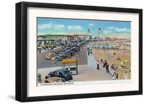 Hampton Beach, New Hampshire, View of Ocean Blvd and the Playground by Lantern Press