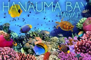 Hanauma Bay, Hawai'i - Fish and Coral 3 by Lantern Press