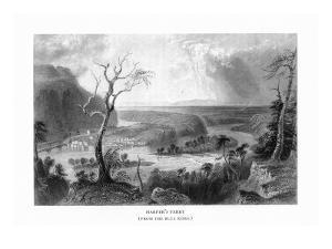 Harper's Ferry, West Virginia, View of the Town from the Blue Ridge by Lantern Press
