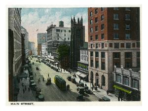 Hartford, Connecticut - Main Street Scene by Lantern Press