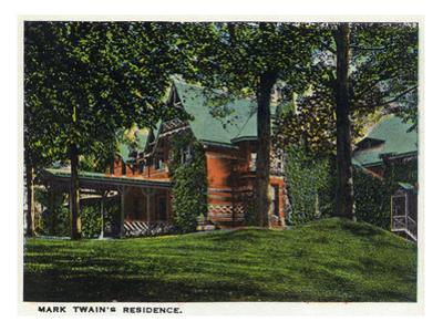 Hartford, Connecticut - Mark Twain's House by Lantern Press