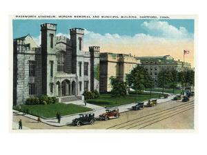 Hartford, Connecticut - Wadsworth Atheneum, Morgan Memorial, Municipal Bldg Exterior by Lantern Press