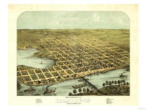 Hastings, Minnesota - Panoramic Map by Lantern Press