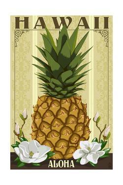 Hawaii - Aloha - Colonial Pineapple by Lantern Press
